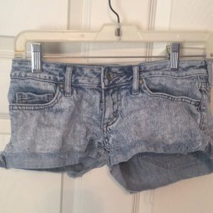 Acid Wash Cutoff Jean Shorts Bullhead